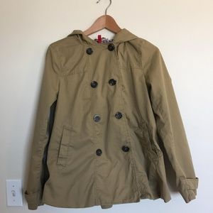 H&M Women's Tan Hooded Trench Coat